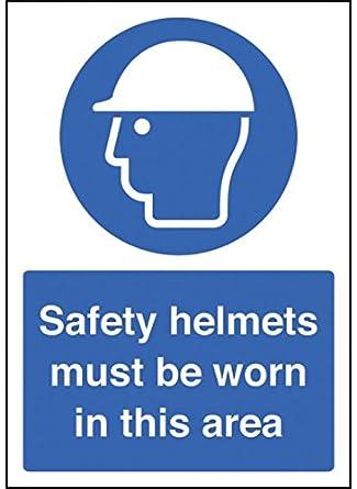 Caledonia Signs 58371 - Casco de seguridad con señal de seguridad (tamaño A4)