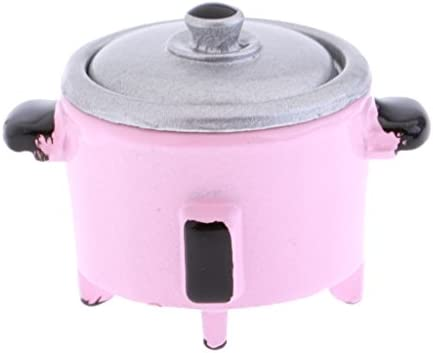 1//12th Doll House Miniature Metal Electric Cooker Kitchen Furniture Decor