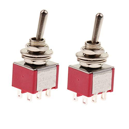 Baosity 2Pcs Of Set Mini Toggle Switch For Circuit Wiring Harness Accessory - 2 Way