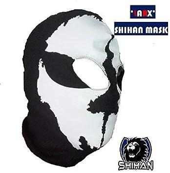 larx 2agujeros, Lana zorro disfraz de ninja, 1Talla Adulto, cráneo de