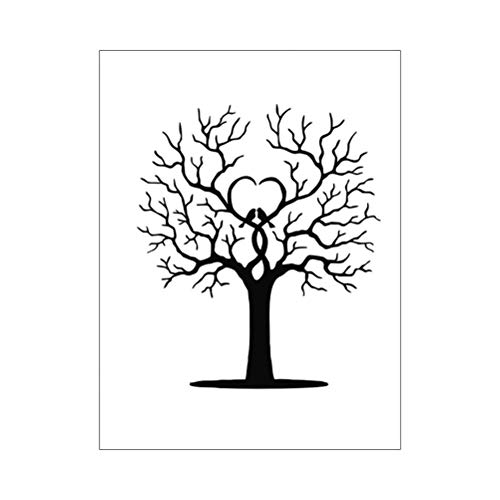 Amosfun Guest Book Wedding Fingerprint Tree Thumbprint Tree Guest Book