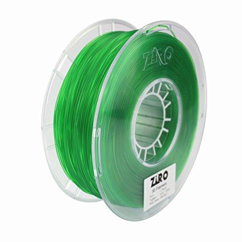ZIRO 3D Printer Filament PLA 1.75 1KG(2.2lbs), Dimensional Accuracy +/- 0.05mm, Translucent Green