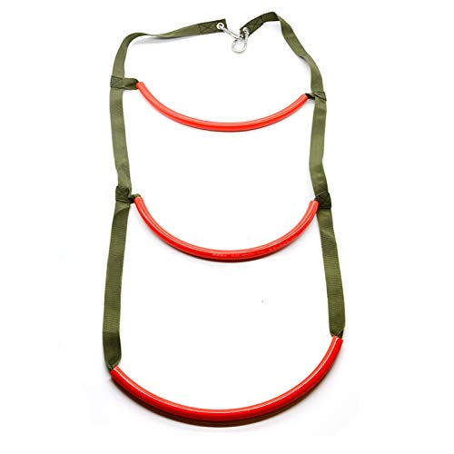 Flyastar Inflatable Boat Rib 3 Step Boarding Ladder Wakeboard Yacht Equipment fit Kayak Motorboat Canoeing (Red) (Best Small Rib Boat)