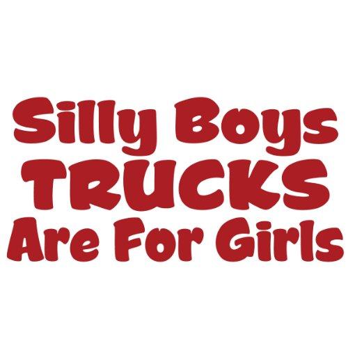 Silly Trucks Girls Window Sticker