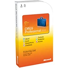 Microsoft Office Professional 2010 Key Card 1PC/1User [Old Version]