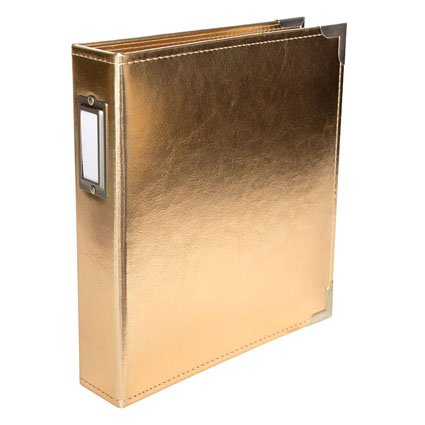 Project Life (1-Pack) Project Life Classic Faux Leather D Ring Album 6'X8' Gold 380492 ()