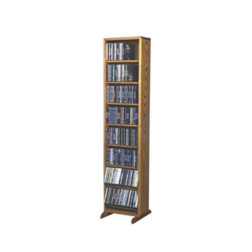 - Cdracks Media Furniture Solid Oak Dowel Cabinet for CD Capacity 208 CD's Honey Finish