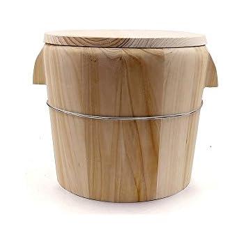 Amazon.com: HUANGYIFU Wooden Handmade Rice Bowl Bucket