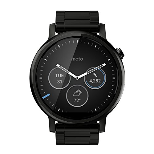 Motorola Moto 360 (2nd Gen.) - Mens 46mm Black with Black Metal