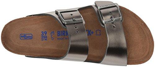 Birkenstock Unisex Arizona Metallic Anthracite Leather Sandals - 39 M EU / 8-8.5 B(M) US by Birkenstock (Image #7)