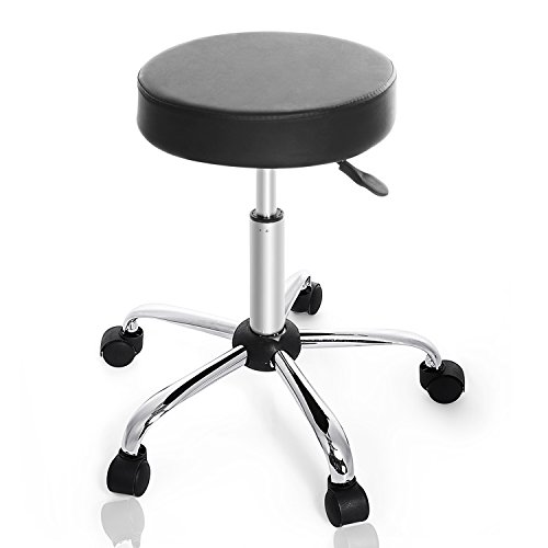 Kemanner 360-Degree Rolling Stool Adjustable Hydraulic Swivel Bar Stool with Wheels for Massage/Medical/Salon/Office/Tattoo by Kemanner