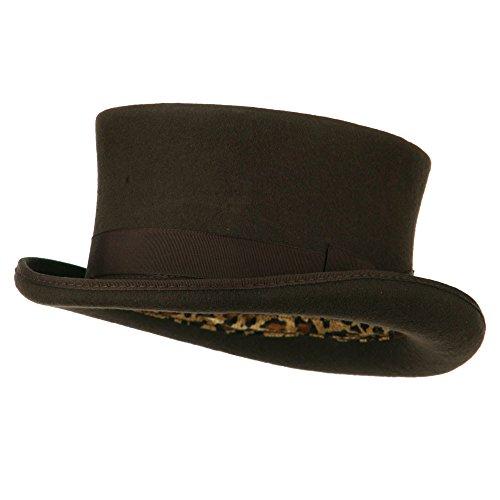 e0ebff51a0f Jual Men s Top Hat Wool Felt Hat - Brown - Fedoras