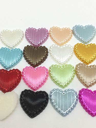- New Hot 50PCS Charm Resin Stripe DIY Heart Scrapbook Craft 15MM Flatback Mix#
