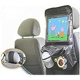 Suporte Tablet para Carro com Bolsa Porta Objetos
