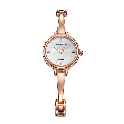 Bosymart Women's Analog Quartz Elegant Rose Gold Luxury Dress Bracelet Wrist Watch Dress Bracelet Watch