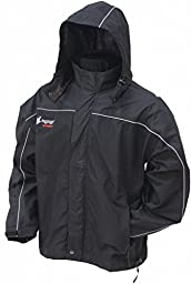 Frogg Toggs Toadz Highway Black Textile Rain Jacket - Small