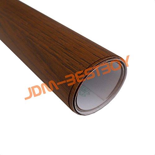 "Professional quality Oak wood grain 2.5ft x 48/"" pre-laminated furniture wrap"
