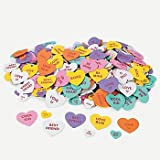 500 VALENTINE Conversation HEART FOAM STICKER Shapes/ARTS & Crafts/SCRAPBOOKING Supplies/SELF ADHESIVE/HOLIDAY/VALENTINE'S DAY ACTIVITY