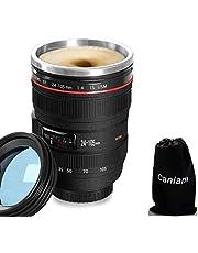 CoWalkers Lente de la cámara Taza de café, 400 ml, el último estilo Tazas de viaje de acero inoxidable 100% a prueba de fugas,Taza para Café, Té y Bebidas Calientes, Lente 24-105mm DSLR