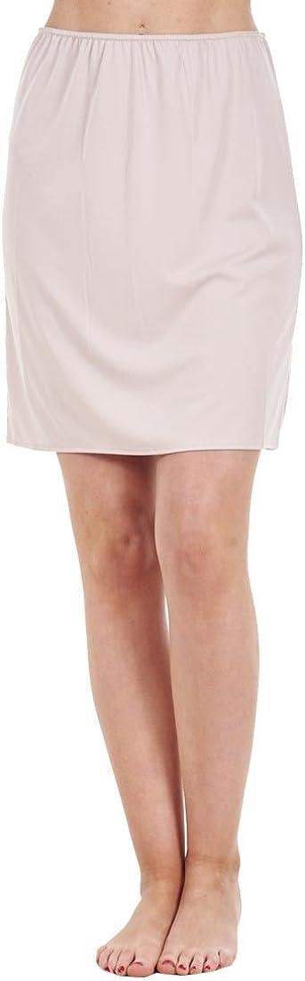 Ex Famous Store Ladies Plain Anti Cling Cooling Waist Half Slip Underskirt Petticoat