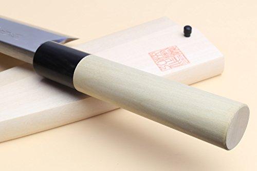 Yoshihiro High Carbon Shiroko Kasumi Deba Japanese Fillet Chef's Knife 6''(150mm) by Yoshihiro (Image #4)