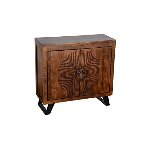 Hawthorne Collections Spiral Solid Mango Wood Two Door Cabinet by Hawthorne Collections