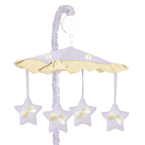 Sweet Jojo Designs Musical Baby Crib Mobile - Purple Dragonf