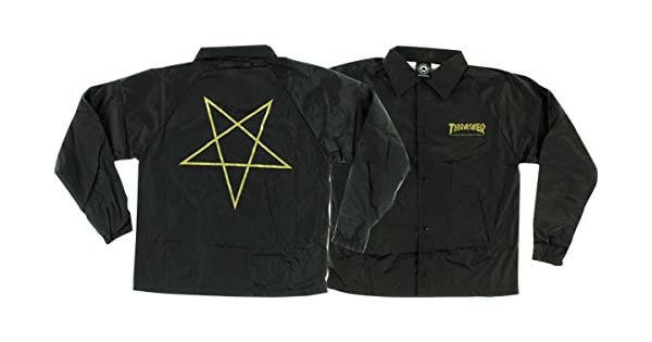 Amazon.com: Thrasher Revista Pentagram Negro/Oro Coaches ...