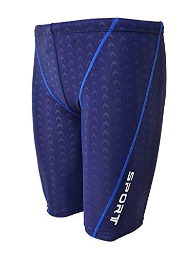 IMATE Men's Quick Dry Solid Square Leg Swimsuit (US L/Tag 3XL (Waist 36-38