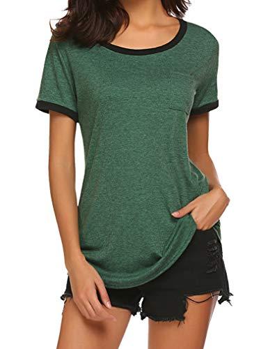 Women's Custom Jersey Style St Patrick's Day T Shirts Saint Pattys Tee (L, Green) (Burnout Tee)