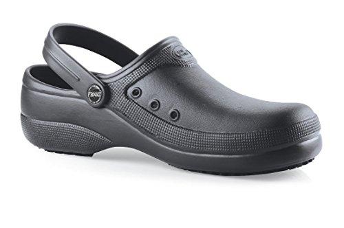 Shoes For Crews - Zuecos de goma para mujer negro negro