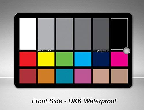 DGK Color Tools WDKK Waterproof 18% Gray Color Chart and Warm Card Tool Kit with Stand and Case