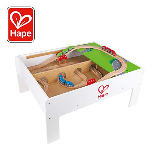 Train Activity Table (Hape Railway Play and Stow Storage and Activity Table for Wooden)