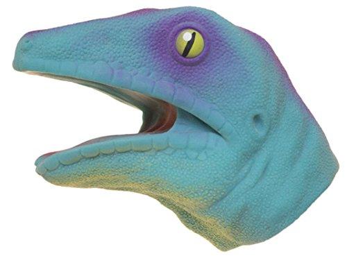 Soft Rubber Realistic 6 Inch Lizard Hand Puppet (Blue)