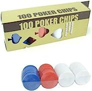 Trademark Poker 100 Radial Poker Chip Set, Multi