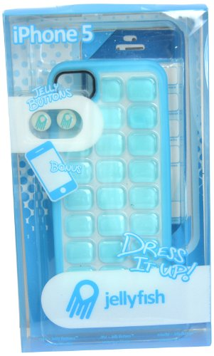 Jellyfish iPhone5/5S Gems Ensemble Case with Color Border Screen Protector and Home Button Stickers - Combo Pack - Retail Packaging - Bodacious (Home Ensemble)