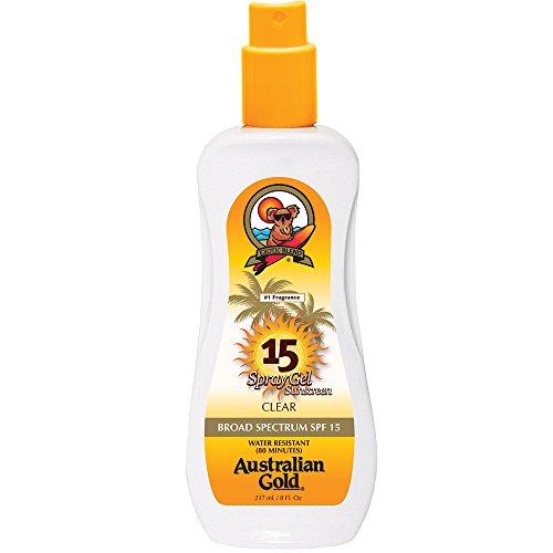 Australian Gold SPF 15 Spray Gel Sunscreen, Clear, 8 Fl - Gold Clear