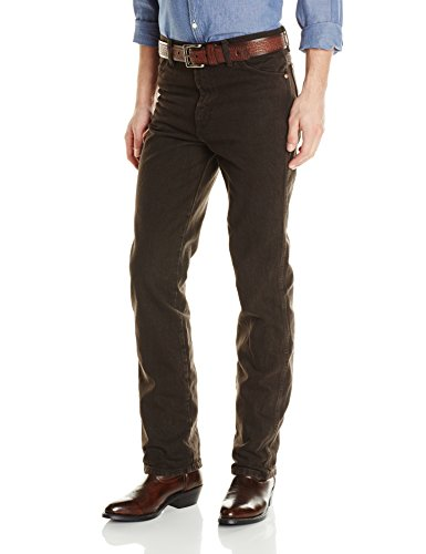 Wrangler Men's Cowboy Cut Slim Fit Jean, Black Chocolate, 31