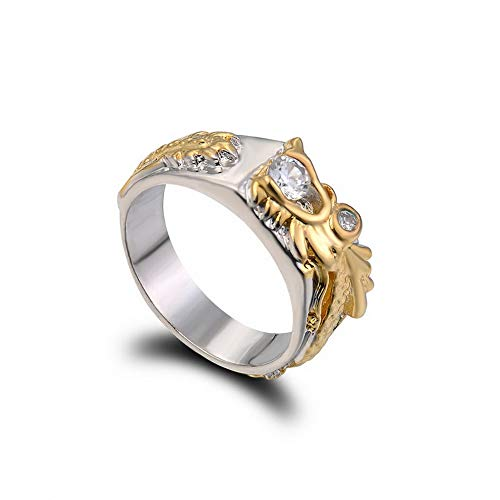 - Monowi New Domineering Dragon Rings Gold White Sapphire Christmas Party Jewelry Gift | Model RNG - 20306 | 10
