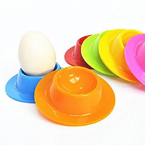 ACAMPTAR Lot de 4 coquetiers en Silicone Colour Works Cuisine en Silicone coquetier Couleur aleatoire
