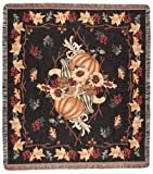 Simply Home Awesome Autumn Tapestry Throw Blanket