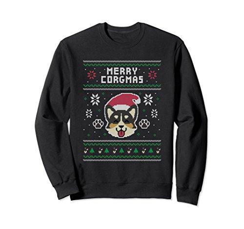 Unisex Official Corgi Ugly Christmas Sweater Large Black ()