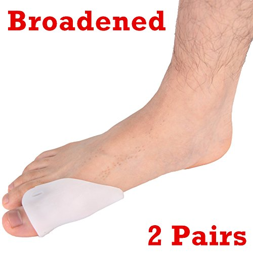 Dr.Koyama Bunion Protectors Metatarsal Pads for Bunion Toe Relief Toe Straightener, Separator, Corrector, Spacer, Shield, Cushions High Heels Shoe Pain Relief (Silicon Toe Shields)