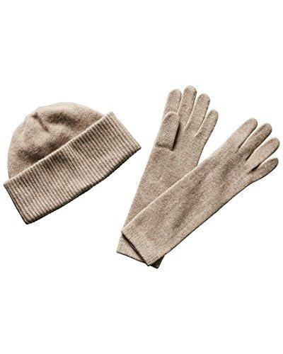 Portolano Womens Cashmere Hat & Gloves Set, Set (Portolano Womens Cashmere)