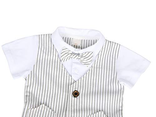 AmzBarley Gentleman Abiti Bambini Formale Camicia Pantaloni Giubbotto Cravatta Set di Vestiti Bimbo Ragazzi per Festa… 3