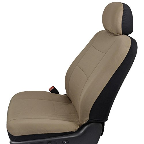 Bdk Polycloth Car Seat Covers Solid Beige 11 Piece