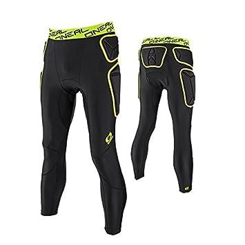 O Neal Trail Pantalon Protections Noir Vert Citron VTT DH Enduro ... bf6585bcd887