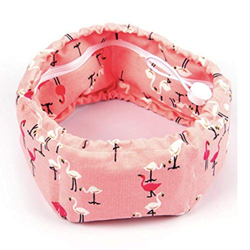 Stock Show Dog Cooling Bandana, Pet Dog Adjustable Ice Chill Out Collar Scarf with 5 Ice Packs for Summer (Flamingo)