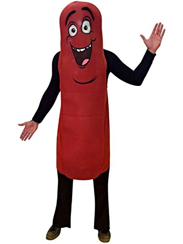 Wiener Dog Hotdog Costume (Sausage Party Movie Frank Costume Adult Mens Hot Dog Wiener Food Character)