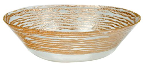 Red Pomegranate Magara Deep Bowl Clear Gold 12-Inch by Red Pomegranate